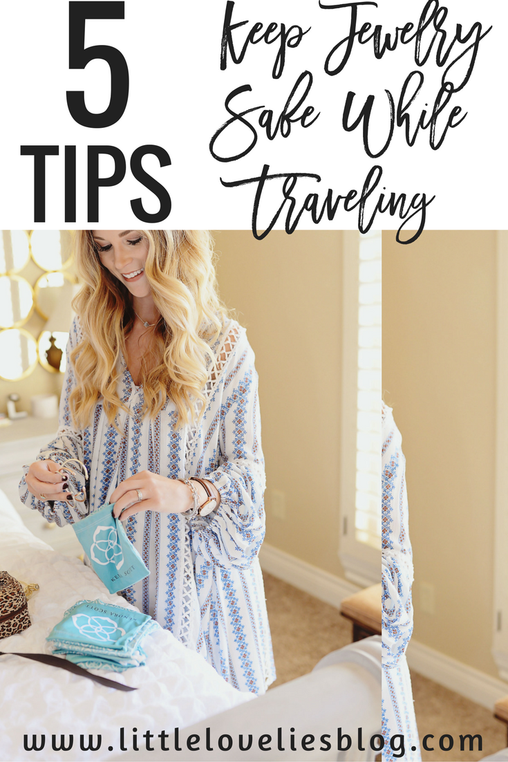 5 tips for safe traveling with jewelry kendra scott winter collection top from chicwish