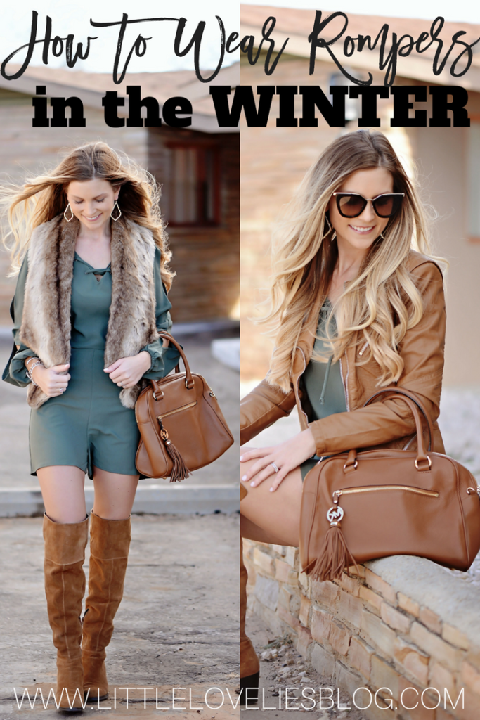 How to wear a shorts romper in the winter by layering!