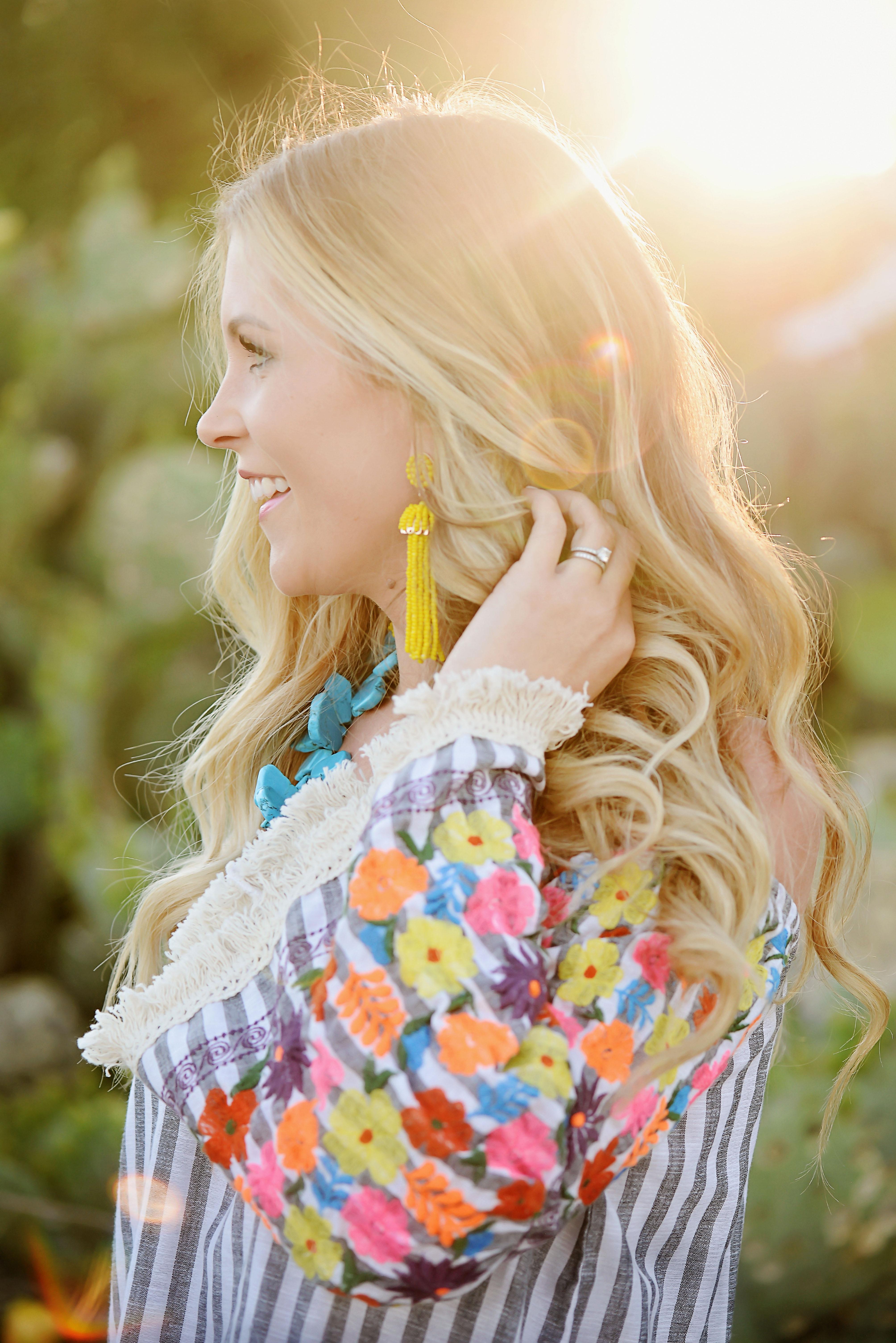 summer earrings tassel yellow
