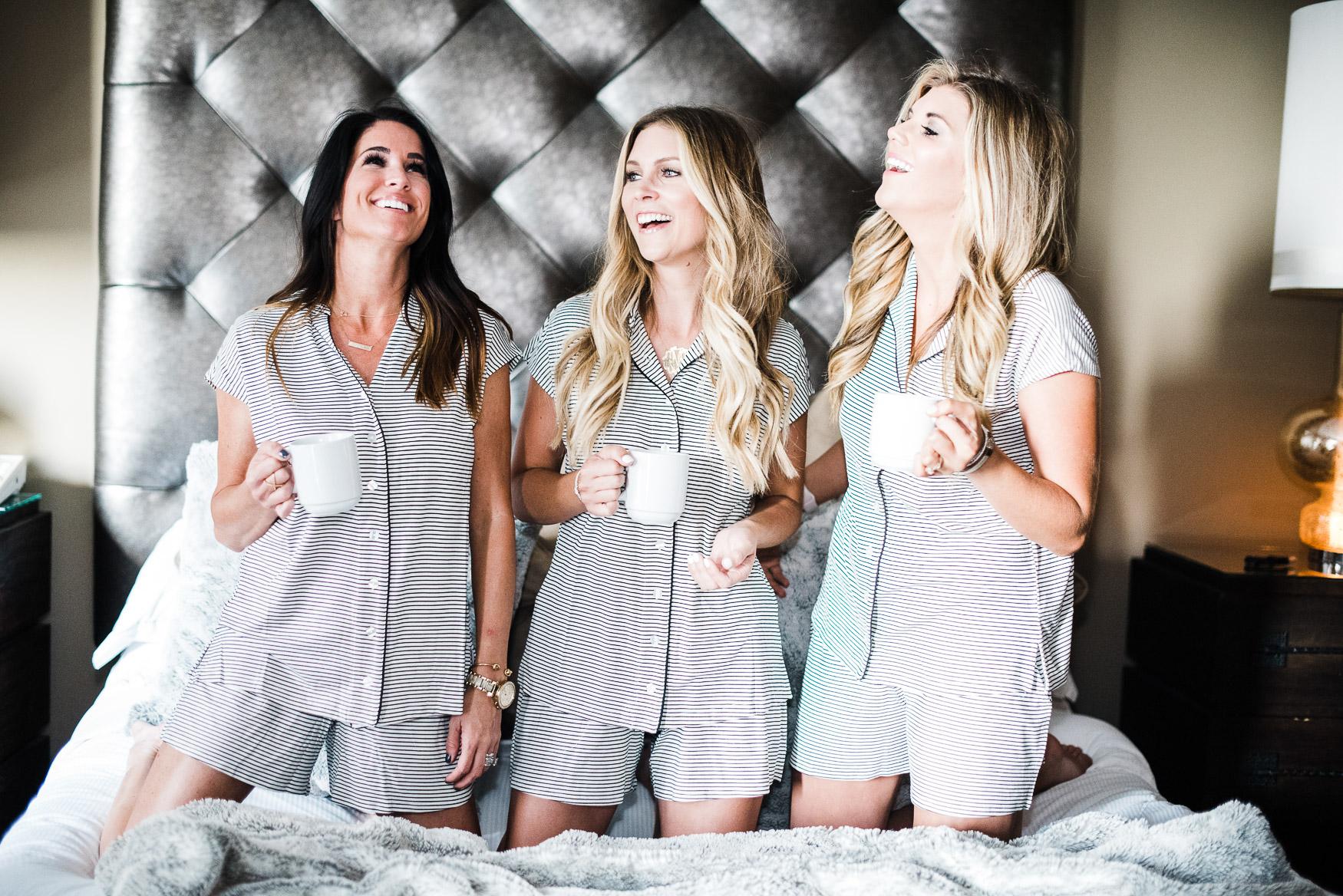 soma striped pajamas for girls night