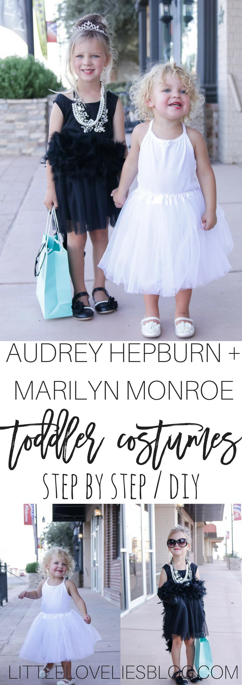 DIY Toddler Audrey Hepburn Breakfast at Tiffany's Costume Marilyn Monroe Sister Costume (1)