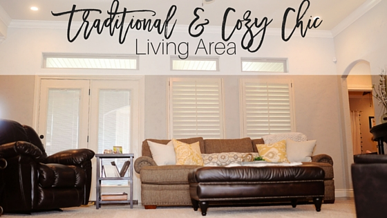 Traditional & Cozy Chic Living Area Makeover with Yate's Flooring