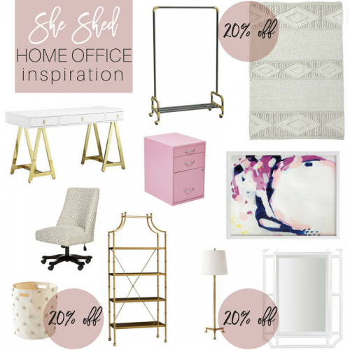 She Shed / Home Office Inspiration Blogger Office