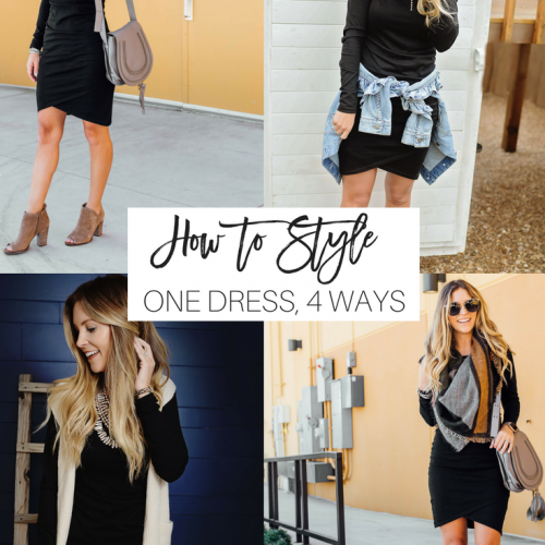 how to wear one flattering dress 4 ways