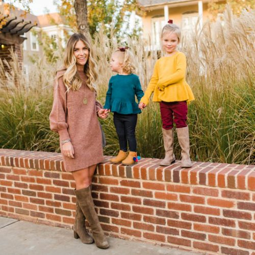 What to Wear for Thanksgiving // Moms and Kids // Nordstrom Topshop and Tucker + Tate