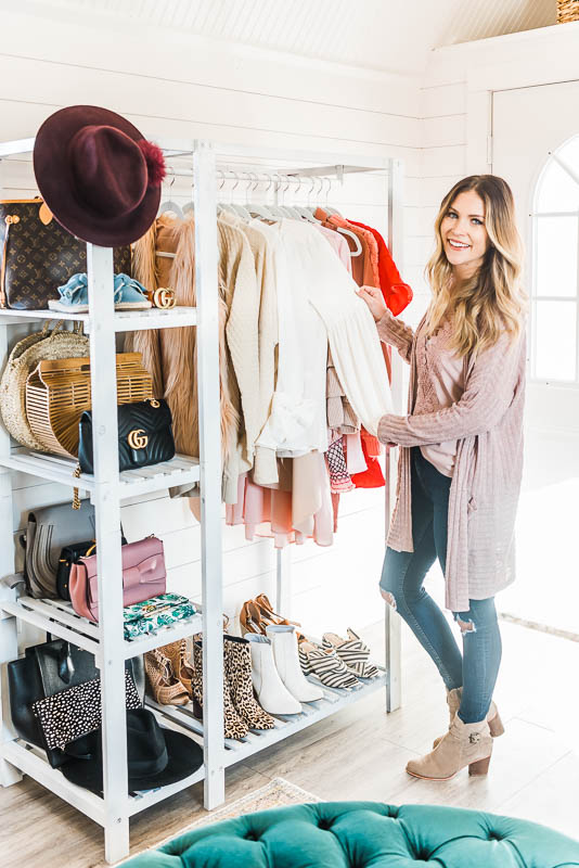 blogger home office closet