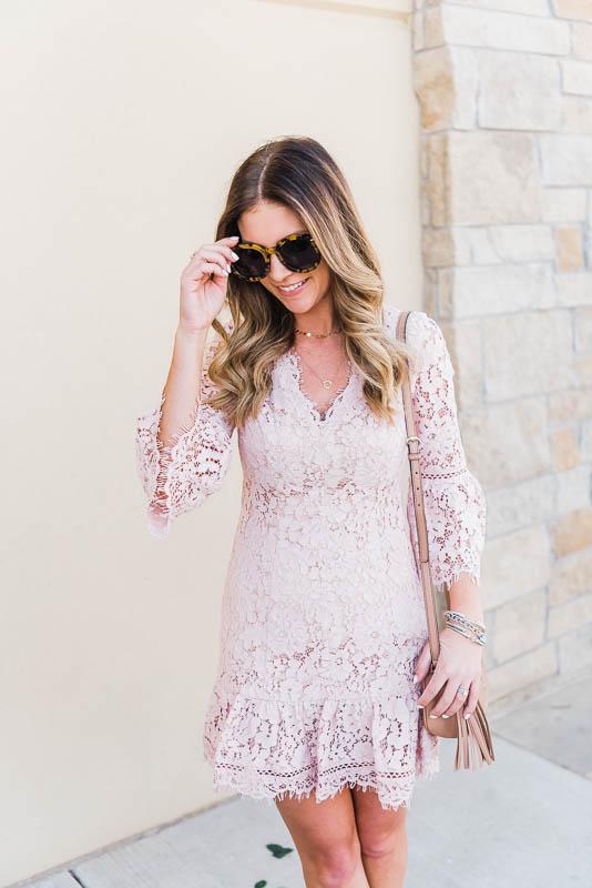 blush pink dress for spring