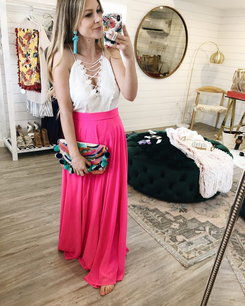 A Walk To Remember Pink Maxi Skirt