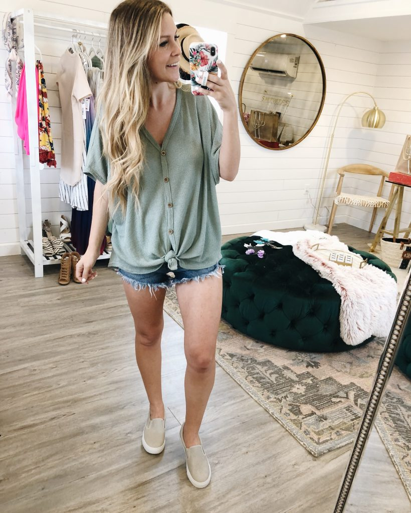 Ready For Spring Mint Tie Top