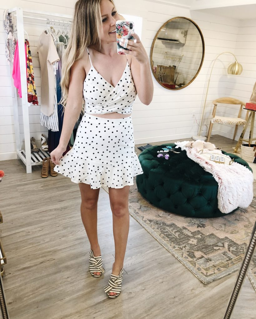 By This Time White Polka Dot Two Piece Set
