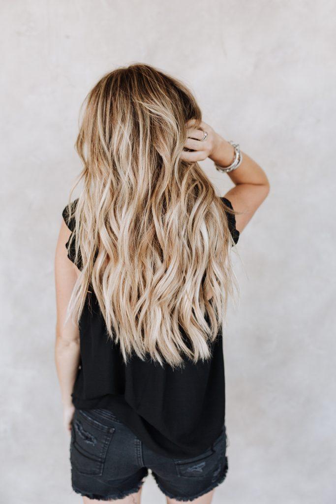 hair color balayage baby lights blonde brown