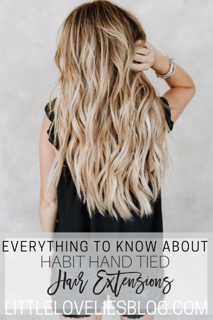 what to know about habit hand tied hair extensions