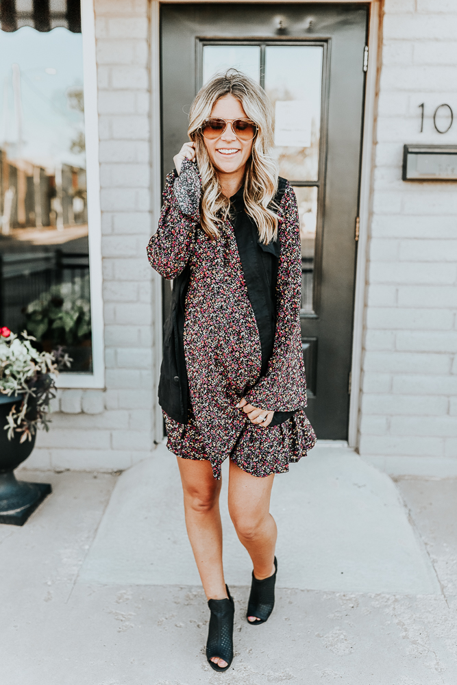 How to Style a Fall Floral Dress 3 Ways