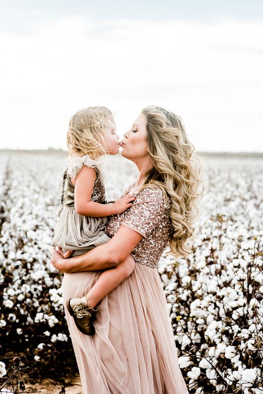 Cotton Field Maternity Photos