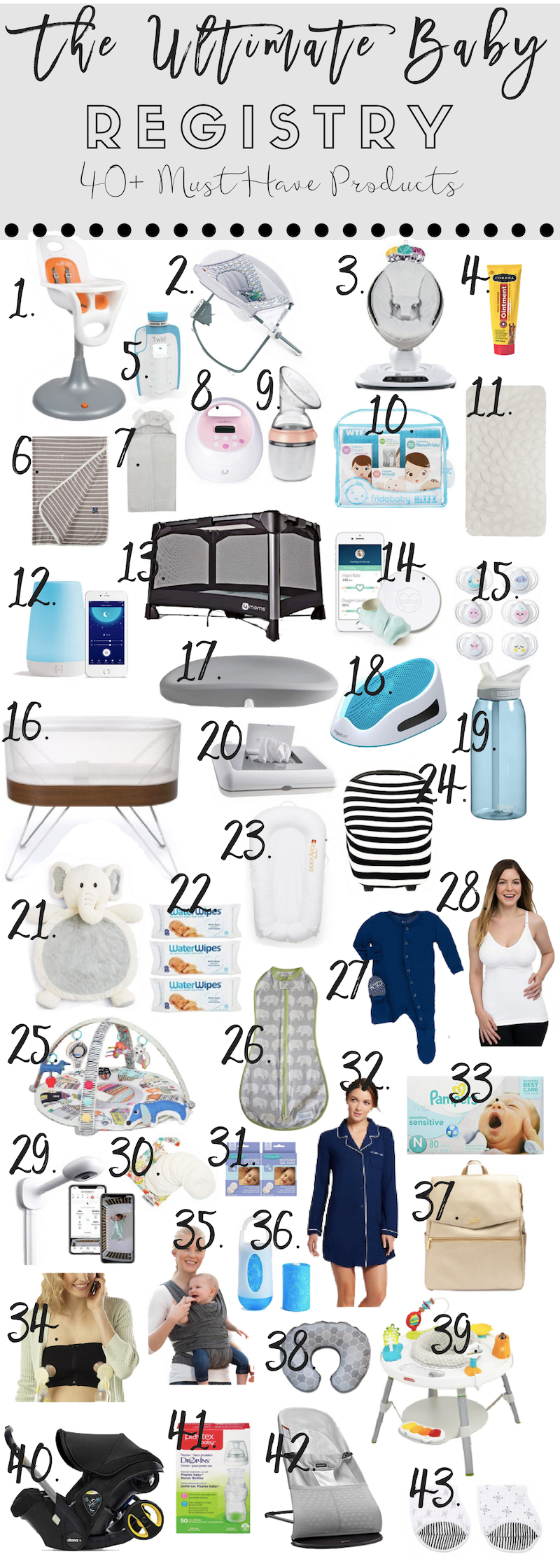 40+ Must Have Items for Your Baby Registry - Ashlee Nichols