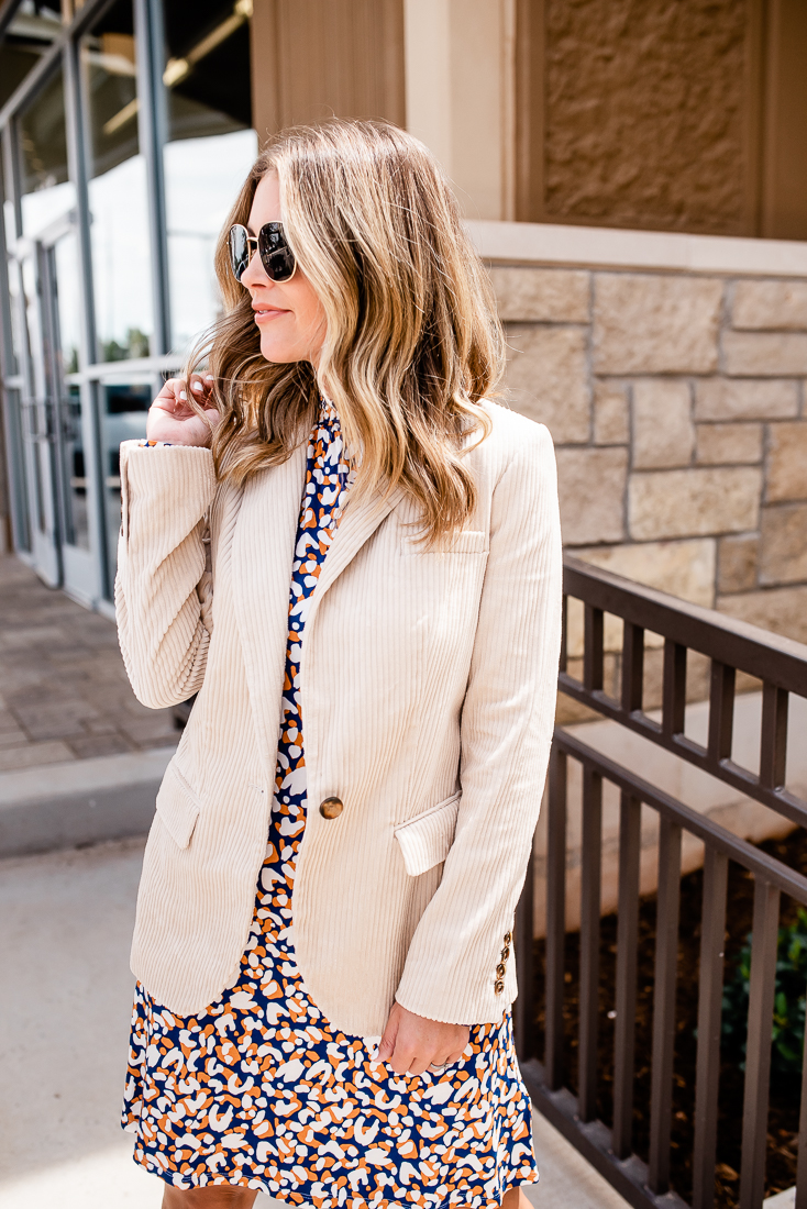 Life & Style blogger Ashlee Nichols shares how to style corduroy pieces for fall with Marks & Spencer.